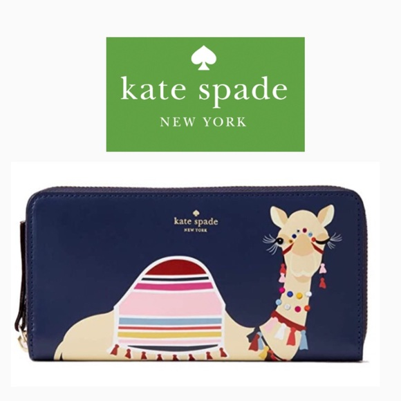 Kate Spade Camel Spice Things Up Neda Navy Wallet